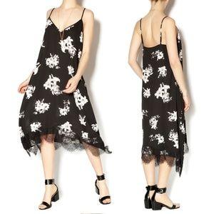 BB Dakota Lace Trim Floral Slip Dress